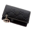 Authentic GUCCI  Six GG pattern Charm Key case Shimareza