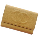 Authentic CHANEL  COCO Mark Bifold Wallet with Coin Pocket Caviar skin