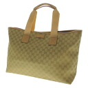 Authentic GUCCI  GG pattern engraved logo Tote Bag Canvas