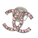 Authentic CHANEL  COCO Mark Stone Design Brooch Metal