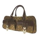 Authentic GUCCI  Heart Hardware Handbag Nylon x leather