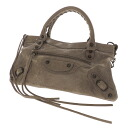Authentic BALENCIAGA  Logo metal fittings Handbag Leather