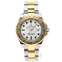 Authentic ROLEX Oyster Perpetual Yacht-Master 16623 Watch Stainless 18K Yellow Gold an automatic Men