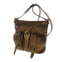 Authentic cromia  Press logo type Shoulder Bag Leather