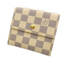 Authentic LOUIS VUITTON  Portefeiulle · Elise N6173302 Double Sided Bifold Wallet with Coin Pocket Damier canvas