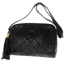 Authentic CHANEL  Quilting Shoulder Bag Lambskin