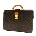 Authentic LOUIS VUITTON  M53305 2-layer Seruvu~ietto-Fermo Whirlpool Business bag Monogram canvas