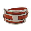 Authentic HERMES  H motif Hardware Bracelet Metal