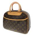 Authentic LOUIS VUITTON  Trouville M42228 Handbag Monogram canvas