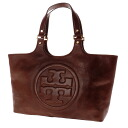 Authentic Tory Burch  Logo motif Handbag Calf