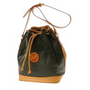 Authentic HUNTING WORLD  Press logo type Shoulder Bag Nylon x leather