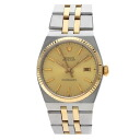 Authentic ROLEX 17013 Oyster Quartz Datejust Watch Stainless 18K Yellow Gold Quartz Men