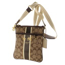 Authentic COACH  Long Shoulder signature pattern logo print Shoulder Bag PVC
