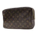 Authentic LOUIS VUITTON  Trousse Toilette 28 M47522 Cosmetics Pouch Monogram canvas