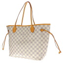 Authentic LOUIS VUITTON  NeverfullMM N51107 Shoulder Bag Damier canvas