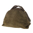Authentic BORBONESE  Quail pattern Cosmetics Pouch Suede leather x