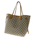 Authentic LOUIS VUITTON  NeverfullMM N51107 Tote Bag Damier canvas