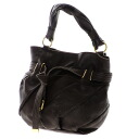 Authentic Puff  With logo Shoulder Bag Leather