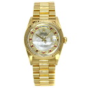 Authentic ROLEX Oyster Perpetual Day-Date 18238NMR Watch 18K yellow gold  an automatic Men