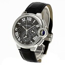 Authentic CARTIER Ballon Bleu Watch Stainless Leather an automatic Men