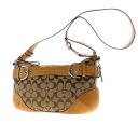 Authentic COACH  Belt motif Shoulder Bag Canvas