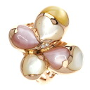 0.02ct Shell Ring 18K pink gold  7.9