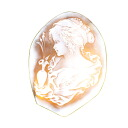 Cameo top scalar Brooch 18K yellow gold  27.6
