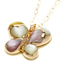 0.03ct Shell Necklace 18K pink gold  13.2