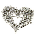 1.5ct Diamond Heart Top Brooch PlatinumPT900  10.3
