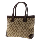 Authentic GUCCI  GG pattern Shoulder Bag Leather x canvas