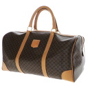 Authentic CELINE  Macadam pattern Boston bag PVCx Leather