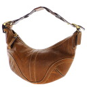 Authentic COACH  Shoulder Braid Shoulder Bag Leather