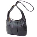 Authentic COACH  Gathered design Shoulder Bag Leather