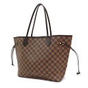 Authentic LOUIS VUITTON  Neverfull MM N51105 Tote Bag Damier canvas