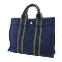 Authentic HERMES  Sac flu-to-PM Tote Bag Canvas