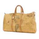 Authentic PRIMA CLASSE  Map pattern Boston bag Synthetic leather