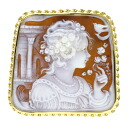 Cameo Brooch 18K yellow gold  15.7