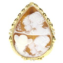 0.12ct Cameo Brooch 18K yellow gold  11.6