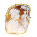Cameo Brooch 18K yellow gold  25.2