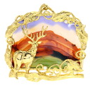 0.05ct Agate Brooch 18K yellow gold  25.8