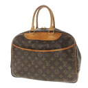 Authentic LOUIS VUITTON  Deauville M47270 double zipper Handbag Monogram canvas