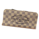 Authentic LOUIS VUITTON  Plat emissions Soleil Anne Soritto N63115 (With Coin Pocket) Long Wallet Damier canvas