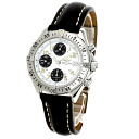 Authentic BREITLING Colt Chrono auto A13035.1 Watch Stainless Black leather an automatic Men