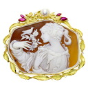1.17ct Cameo Brooch 18K yellow gold  33.1