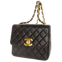 Authentic CHANEL  Matelasse COCO Mark Shoulder Bag Lambskin