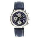 Authentic BREITLING Navitimer Overhauled Watch Stainless Leather an automatic Men