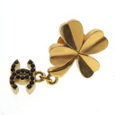 Authentic CHANEL  Clover motif Brooch Metal