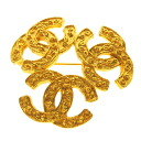 Authentic CHANEL  COCO Mark Brooch Metal