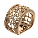 1.35ct Diamond Ring 18K pink gold  Twelve