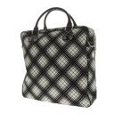 Authentic GUCCI  Plaid 2way Shoulder Bag Leather x canvas